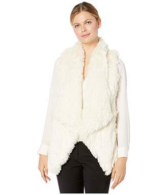 Democracy Sleeveless Draped Faux Fur Vest