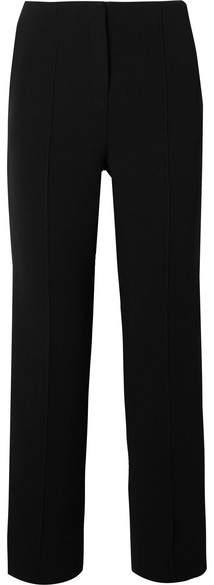 Diane von Furstenberg Cropped Striped Cady Straight-leg Pants - Black
