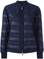 Moncler Brulee paneled jacket - women - Feather Down/Polyamide/Polyester - 2