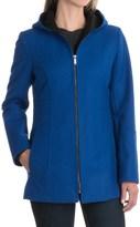 London Fog Hooded Coat - Wool Blend, Full Zip (For Women)