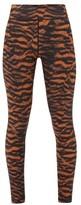 The Upside Tiger-print High-rise Leggings - Womens - Animal