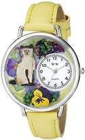 Whimsical Watches Unisex U0120007 Siamese Cat Yellow Leather Watch