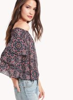 Ella Moss Minori Mosaic Print Off Shoulder Top