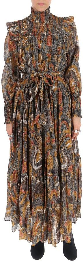 Ulla Johnson Constantine Floral Print Midi Dress