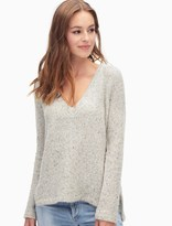 Splendid Loose Knit V Neck Pullover