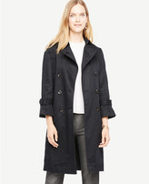 Ann Taylor Petite Flounce Sleeve Trenchcoat