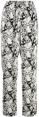 See by Chloe Ornate-Print High-Rise Trousers