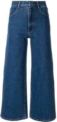 Ksenia Schnaider Wide-Leg Cropped Jeans