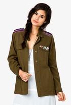 Forever 21 Bejeweled Military Jacket