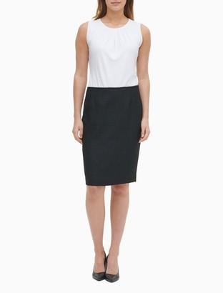 Calvin Klein Boucle Straight Skirt