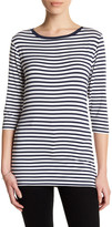 Susina 3/4 Sleeve Striped Tee (Petite)