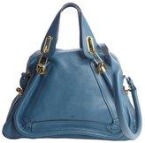 Chloé carribean blue leather 'Paraty' convertible satchel
