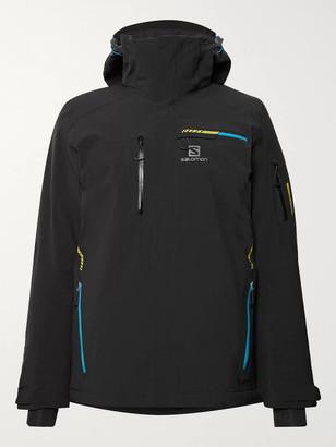 Salomon Brilliant Hooded Ski Jacket - Men - Black