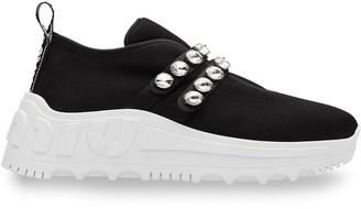 Miu Miu Crystal-Embellished Chunky Sneakers