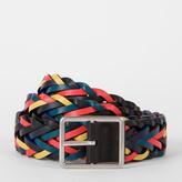Paul Smith Men's Reversible Plaited Leather Belt
