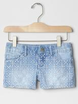 Gap 1969 Embroidered-Front Denim Shortie