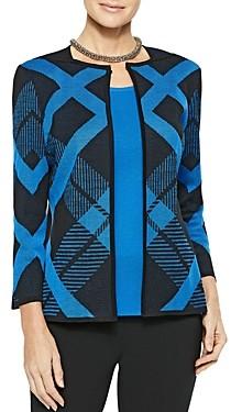 Misook Diagonal Lines Knit Jacket