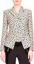 Altuzarra Floral Jacquard Double-Breasted Jacket, Black/White