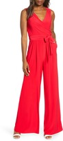 Eliza J Sleevless Wrap Bodice Jumpsuit
