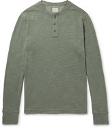 Faherty Slub Cotton Henley T-Shirt