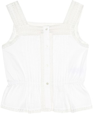 Bonpoint Poetika broderie anglaise cotton top
