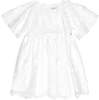Tartine et Chocolat Embroidered cotton-blend dress