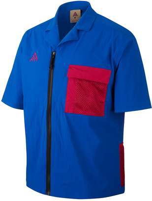 Nike ACG Short Sleeve Zip-Up Stretch Nylon Shirt
