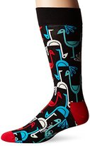 Happy Socks Men's X Iris Apfel 1 Pack Combed Cotton Crew-Bird