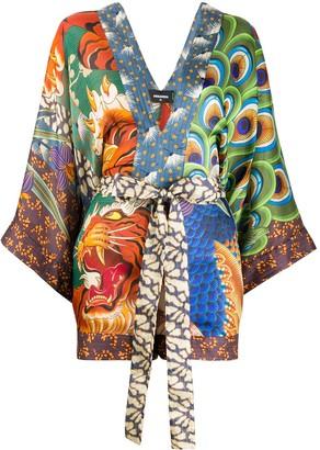 DSQUARED2 Printed Kimono Playsuit