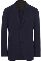 Ermenegildo Zegna Navy Slim-Fit Unstructured Cotton and Cashmere-Blend Twill Blazer