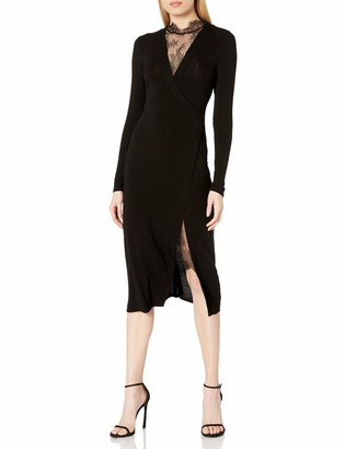 BCBGMAXAZRIA Women's Lace Neck Dress