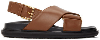 Marni Black and Brown Fussbett Sandals