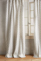 Anthropologie Embroidered Sari Silk Curtain
