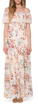 Willow & Clay Women's Lace Trim Off The Shoulder Maxi Dress