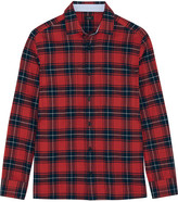 Joseph Iconics Checked Cotton-flannel Shirt - Red