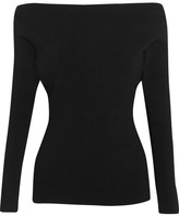 Dion Lee Cutout Stretch-ponte Top - Black