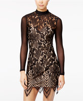 Material Girl Juniors' Illusion Lace Bodycon Dress, Only at Macy's