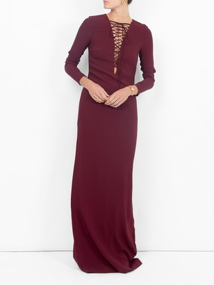 Stella McCartney Lace-up Gown Red