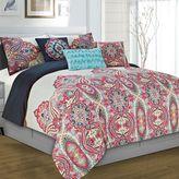 Yuri Reversible Comforter Set in Red/White