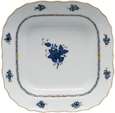 Herend Chinese Bouquet Black Sapphire Square Fruit Dish