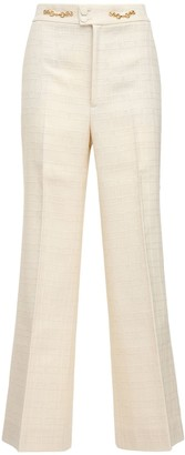 Gucci Light Cotton & Wool Tweed Pants