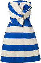 DELPOZO striped bow dress - women - Cotton/Linen/Flax/Polyester - 34