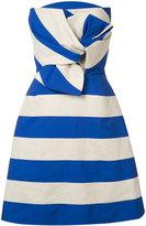 DELPOZO striped bow dress