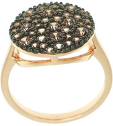 Gregory Ladner Ring Cz 15mm Round Pink/Coffee/Gr