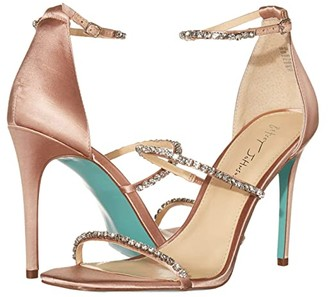 Betsey Johnson Blue By Blue by Elisa Heeled Sandal (Nude Satin) Women's Shoes