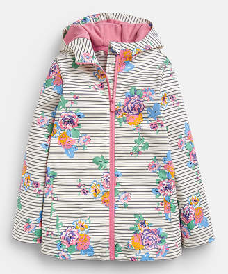 Joules Girls' Rain Coats - White Floral Raindance Raincoat - Infant, Toddler & Girls