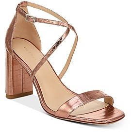 Via Spiga Women's Sabinne Snake-Embossed Block-Heel Sandals