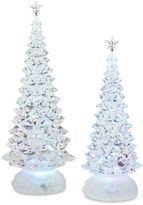 2-Piece LED Clear Christmas Tree with Stars