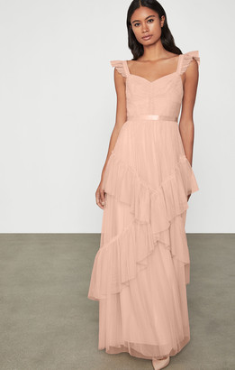 BCBGMAXAZRIA Ruffled Tulle Gown