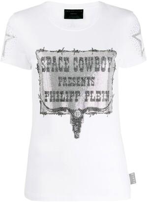 Philipp Plein space cowboy print T-shirt